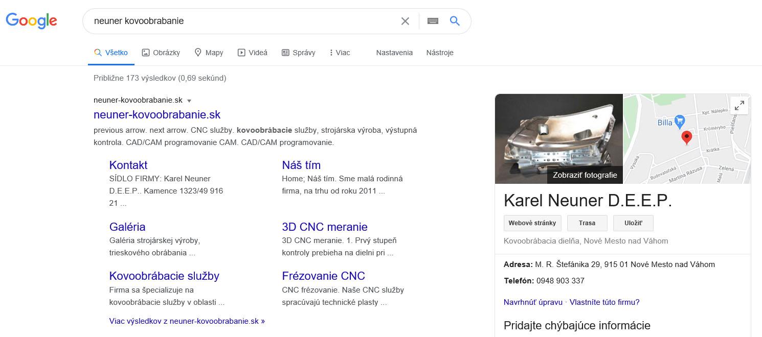 vyhladavanie google neuner kovoobrabanie